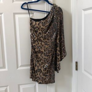 Party Time leopard print sequin dress